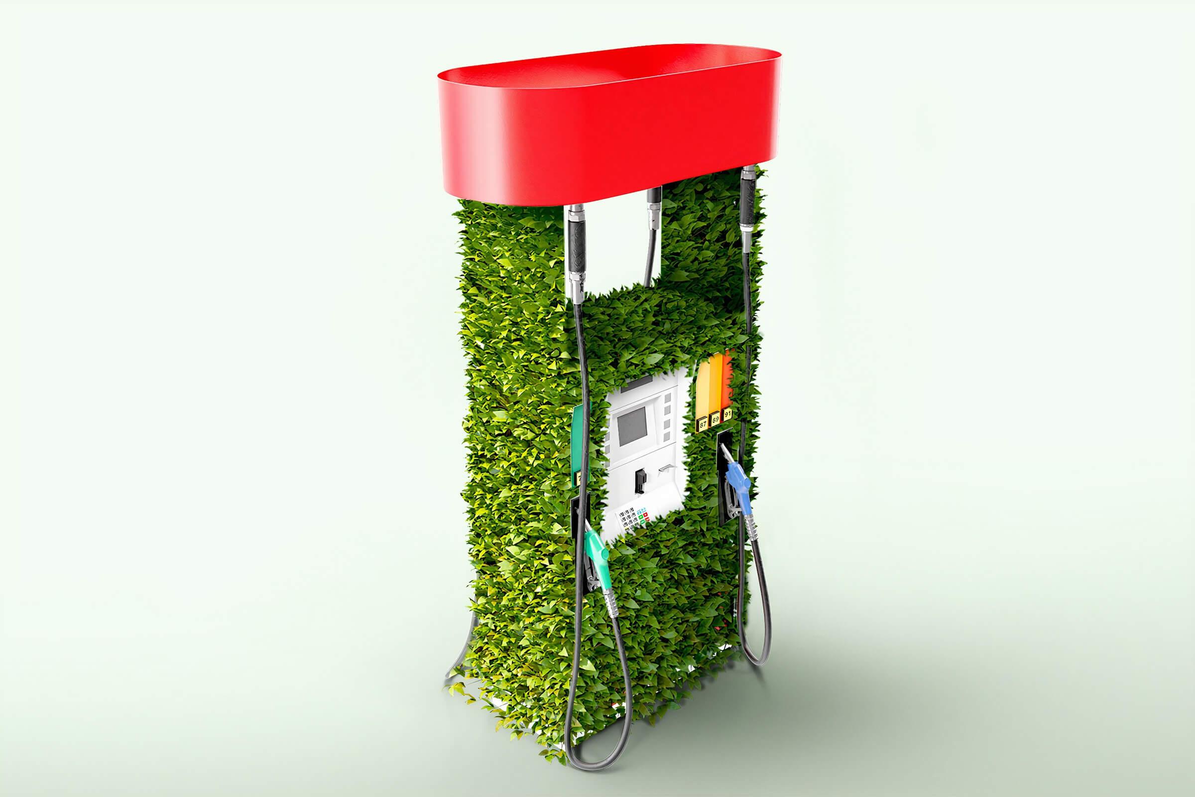 Impuestos Medioambientales - gasolinera verde