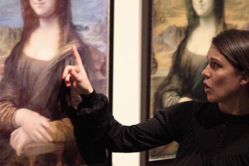 María Eugenia Godoy  en la exposición Da Vinci, el Genio (2012)